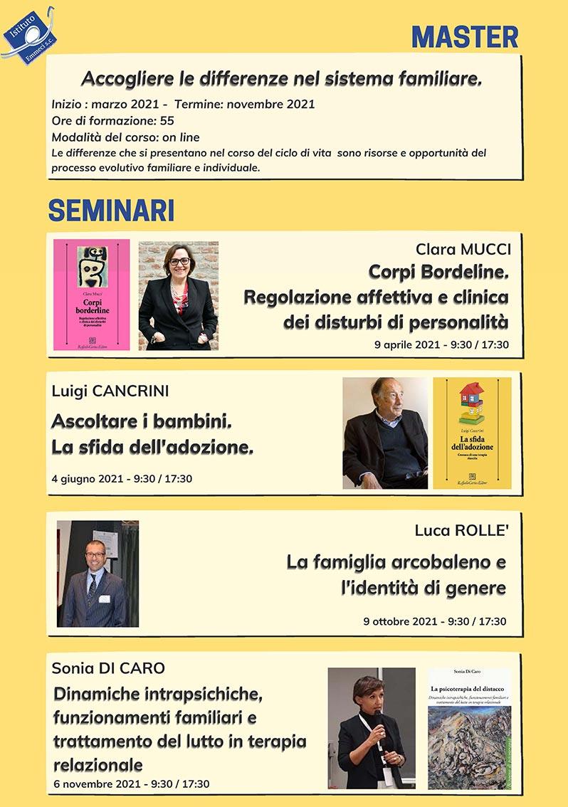 Seminari del Master 2021 Istituto Emmeci